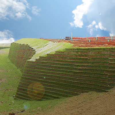 Large retaining wall