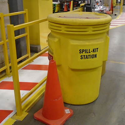 spill station in a factory